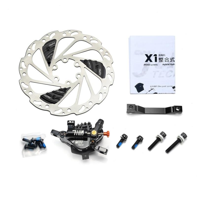 Juin Tech X1 Hybrid Hydraulic Road Disc Brake Advanced Cable Pull Caliper 160mm