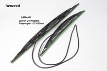 "18""+24"" Car Wiper blade special for SAMAND Soft Rubber wipers WindShield 2pcs/pair car accessories(China)"