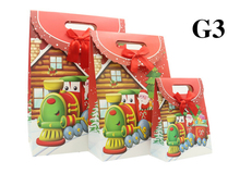 wholesale 500pcs/lot New Christmas gift paper bag,Small,Medium,Large gifts packaging christmas paper bag free shipping by TNT...