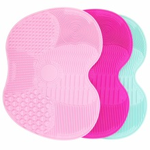 Silicone Makeup Brush Cleaning Mat Washing Tools Hand Tool Large Pad Sucker Scrubber Board Washing Cosmetic Brush Cleaner Tool(China)