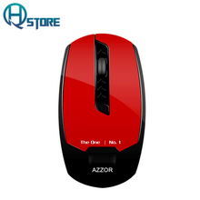 AZZOR Rechargeable Wireless Mouse Silent Mute 2.4G Optical 2400DPI USB Ergonomic Computer Mouse Cheap Mouse For Laptop Notebook