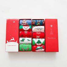 PEONFLY Christmas Full Cotton Keep Warm funny novelty happy socks colorful women hosiery 5PAIRS/LOT coturno feminino(China)