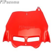 Red Supermoto Front Number Plate Holder Motorbike License Plate for Yamaha Suzuki Kawasaki KTM XR CRF KLX 150 200 250 450(China)