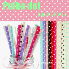 25pcs colorful drinking paper straws party wedding party Mini Dot Paper Straws Kids Birthday Decoration Straws Event Creative