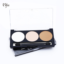 FM 3 Color Smooth Highlighting & Contouring Bronzer Powder Palette Light To Medium Contour Kit 3D Face Makeup Cosmetic