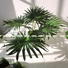 4pcs 66CM Silk High Simulation Artificial Palm Coconut Plant Tree Wedding Home Church Decor Green