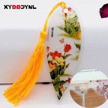 1pc Leaves Vein Bookmark Creative Chinese Wind Tassel Bookmarks Collectibles Boekenlegger Stationery Creative School Supplies(China)