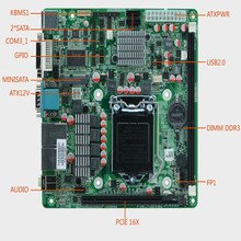 H61 LGA1155 socket motherboard with DVI, DC12V, AMD chipset, dual core, 2 x sodimm DDR3 16G