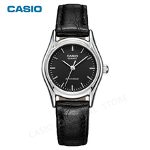 CASIO Watch Women Luxury Brand Casual Ultra Thin Quartz Leather Silver Clock gift 3 bar Waterproof Relojes Mujer LTP-1094E-1A