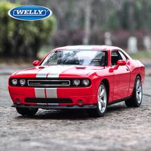 WELLY 1/24 Scale USA Dodge Challenger SRT Diecast Metal Car Model Toy New In Box For Gift/Collection/Kids FreeShipping