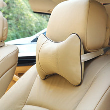 Car Headrest Pillow Neck For Audi A3 A4 B6 B7 A6 C5 BMW E46 E39 E60 E90 Toyota Corolla Avensis Yaris Nissan Qashqai Accessories(China)