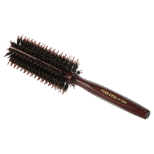 Miss Chu Bristle Roll Round Comb Hairbrush Dual Comb Teeth Hair Scalp Massage Comb Hair Brush Salon Hairdressing Styling Tool(China)