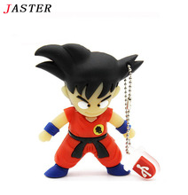 JASTER memory stick Dragon ball Goku pen drive 32gb usb flash drive cartoon pendrive 4gb 8gb 16gb USB 2.0 usb stick usb creativo
