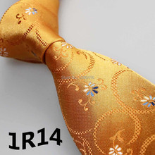 XINCAI Cheap Sell ! Hot Sell ! New Style Neck Ties Gold Yellow Floral Design Men necktie/skinny men suit shirt tie stropdas goud