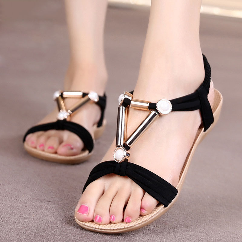 Women Sandals Summer Shoes Woman Flip Flops 2016 Fashion Flat shoes Ankle Strat Sandals Sandalias Mujer<br><br>Aliexpress