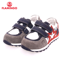 FLAMINGO Name Brand 2017 Comfortable Design Sports Style High Quality Mixture Color Hook & Loop Children Beathable Shoes XP5820