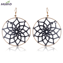 2016 Baroque Earrings For Women Black Lace Earrings Vintage Handmade Earring Catwalk Jewelry Netherlands