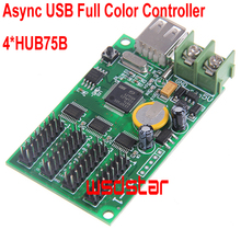 Cheap Async USB full color controller 384*64 192*128 4*HUB75 Design for small size LED display Mini RGB LED controller 4pcs/lot