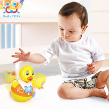 HUILE TOYS 967A Baby Toys Electric Tumbler Nodding Duck Educational Early Learning Toys Musical Toy for Children 0-12 months(China)