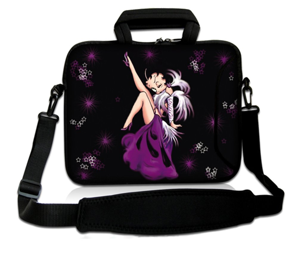 13 Purple Betty Boop Laptop Carrying Sleeve Case Bag Pouch+Shoulder Strap For Macbook Pro/Air 13.3 Inch,HP,DELL,ACER<br><br>Aliexpress