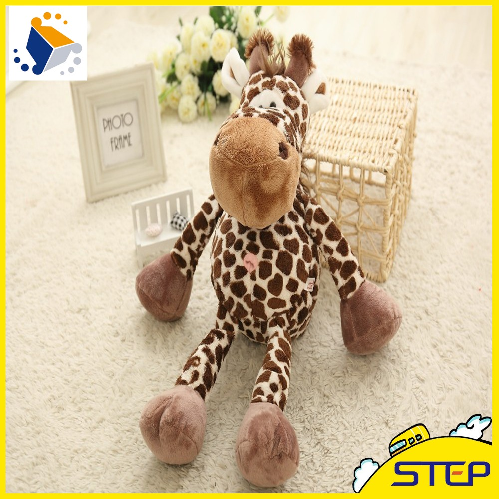 Hot Sale High Quality Deer Plush Toy Giraffe Stuffed Animal Toy Mini Baby Toys Doll Kids Gifts Free Shipping ST219(China)