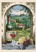 Lovely Cute Counted Cross Stitch Kit Dreaming of Tuscany Vineyard Grapery Vinery Wine Grape Village dim 06972 6972(China)