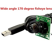 Cheap usb web camera 170 degree fisheye lens CMOS OV7725 640X480 VGA UVC camera module