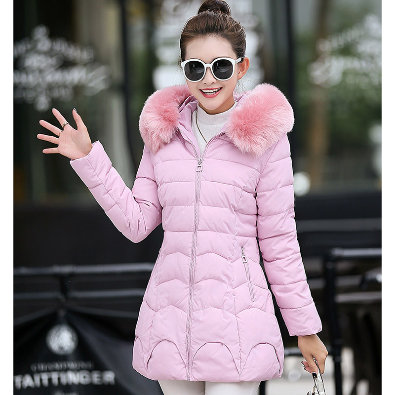 Female Fashion cotton solid New 2016 Autumn winter down cotton-padded jacket A-line zipper Long YRF1611013Одежда и ак�е��уары<br><br><br>Aliexpress