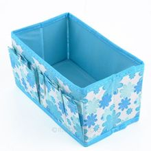 Folding Multifunction Brand New 1pcs Flowers Woven Cosmetic Storage Box Multicolor Gift For Family