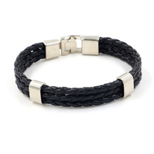 straightly han edition fashion woven leather bracelet Simple man leather bracelet A undertakes accessories wholesale(China)