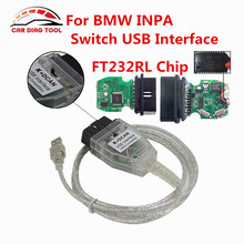 K+D-CAN OBD2 USB Interface Cable For BMW INPA Ediabas NCS EXPERT FTDI FT232RL Switch For BWM INPA K+DCAN Diagnostic Tool(China)