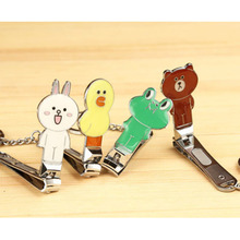Portable Cute Cartoon Animal Design Stainless Steel Manicure Care Nail Cutter Nail Clipper Trimmer Scissor for Finger or Toe(China)