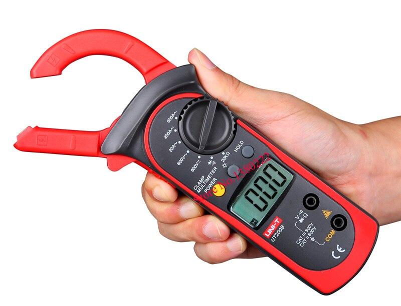 UNI-T UT200B LCD Digital Clamp Multimeter Backlight Ohm DMM DC AC Voltmeter AC Ammeter<br><br>Aliexpress