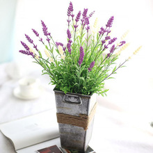 Manufacturers direct simulation of flowers 4 color lavender flowers wedding decoration Home Furnishing MW20201 export