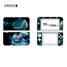 ARRKEO Hatsune Miku Vinyl Cover Decal Skin Sticker for Nintendo New 3DS XL & New 3DS LL Console Skins Stickers