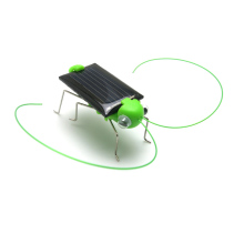 Mini Plastic Solar Power Toy Grasshopper Solar Toy for Kids Children Educational Robot Scary Insect Gadget Trick Novelty Toy(China)