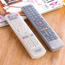 2sizes Silicone TV Remote Control Protective Bag Air Condition Remote Control Case Dust Protective Holder Waterproof Storage Bag
