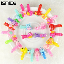 isnice 10pcs/lot Girls Hair Accessories Animal Hair Clip Hairpin Rabbit Flower Barrettes hairpins Princess Resin Hair Clip
