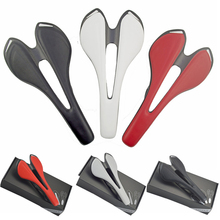 New full carbon+Leather fiber road  mountain bike saddle seat cushion Carbon saddle saddle bicycle accessories