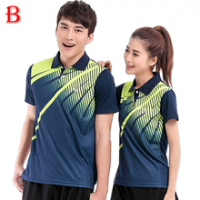 Men And Women Table Tennis Polo Shirts Beautiful Polyester Quick Dry Breathable  Tennis Shirts BTF10