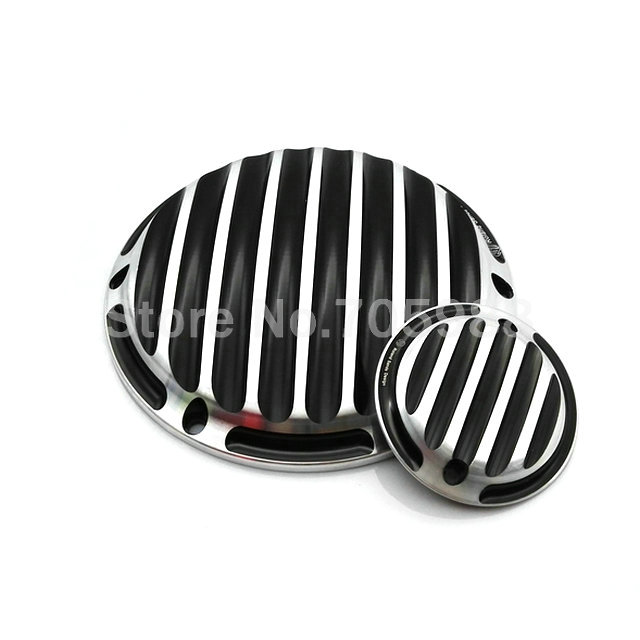 Black Motorcycle Parts Deep Cut Finned Derby Timing Timer Cover for Harley Davidson Sportster XL883 XL1200<br>