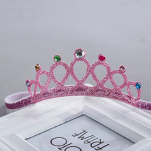 Giraffita New Style Glittering Crown Headband Girls Hair Band New Head Hair Accessories Princess Tiara Headband(China)