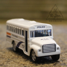 1:64 Alloy car model car series bus car police school bus car Children like the gift Family Collection Decoration(China)