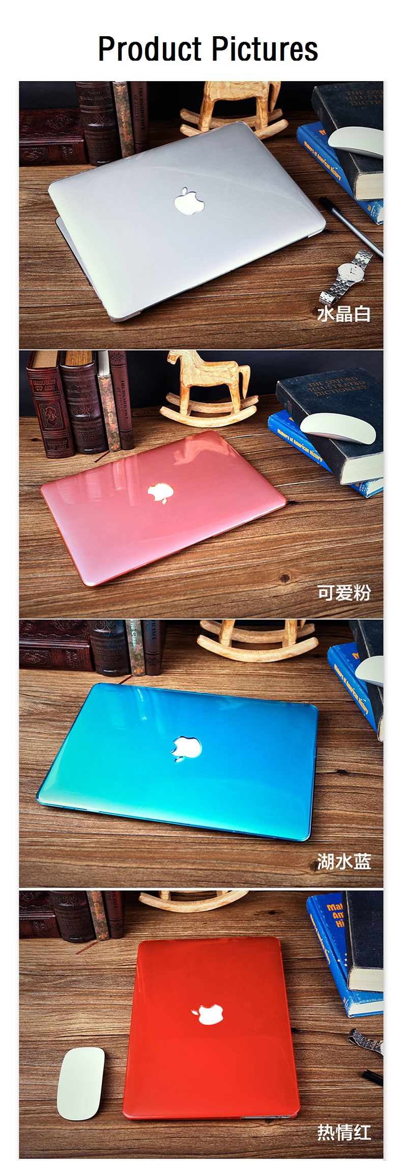 Solid For Macbook Pro 13 A1278 15 A1286 Laptop Case Crystal Transparent Hard PVC For Macbook Pro 13 15 A1278 A1286 Laptop Cover (14)