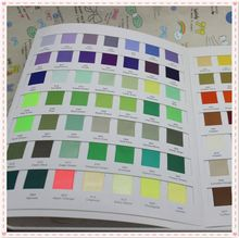 Free shipping 196 colors sample COLOR CHART for single or double Satin Ribbon wholesale OEM P2815(China)