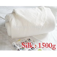 J&E 1500g mulberry silk quilt core comforter filling without quilt cover 100% real mulberry silk for filling the duvet cove