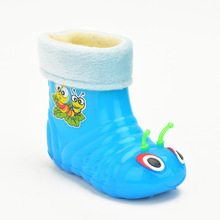 Children Rainboots Shoes Warm Kids Rain Boots with fur Kids Waterproof Shoes Baby Rain Shoes Boy girls Rain boots EU Size 26-30