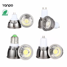 Ultra Bright Dimmable LED COB Spotlight 6W 9W 12W E26 E27 MR16 GU10 GU5.3 Light Bulb 12V AC 220V 110V(China)