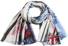 Free shipping ! NEW design Fashion UK flag print  Scarf