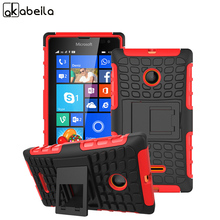 AKABEILA Phone Cases For Microsoft Nokia Lumia 435 Cover N435 532 N532  Covers Rubber Armor Hybrid Tyre Case Lumia 435 Bag Shell